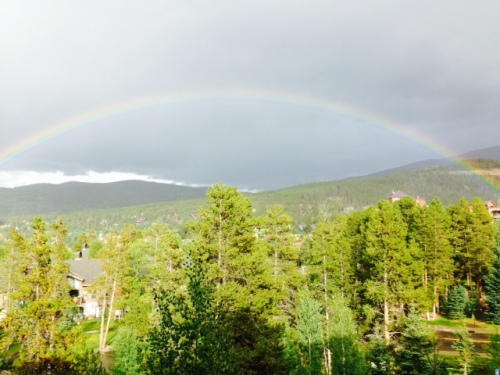 rainbow over Breckenridge