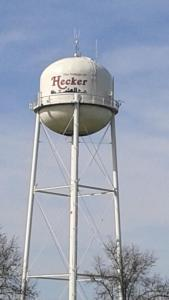 Hecker water tower