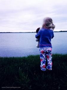 Dani at the lake