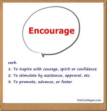 encourage is a verb