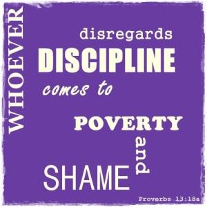 Proverbs 13 18a
