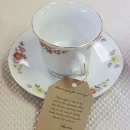 tea cups, wedding, encouragement